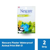 3M Nexcare Plester Waterproof Animal Print BW-21 (1 Pack @ 2 Strip)