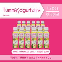 Heavenly Blush Tummy Yogurt Drink Sugar Free Lemon 180 ml (12 Pcs)