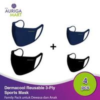 Dermacool Masker Kain Olahraga Paket Family