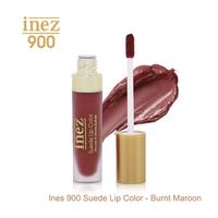 Inez 900 Suede Lip Color - Burnt Maroon