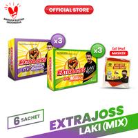 Extra Joss Laki Anggur Mangga Mix Pack (36 Sachet) FREE Masker