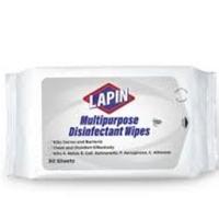 Lapin Multipurpose Disinfectant Wipes - Putih (1 Pack @ 50 Lembar)