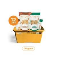 Casa Grata - Set of 12 Crackers B - 2 Flavours - 6 H and 6 SC