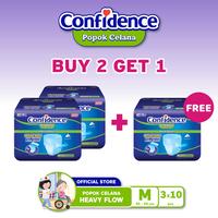 Confidence Heavy Flow (Size M/10 Pcs) - BUY 2 GET 1