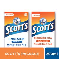 Scotts Emulsion Package 200 ml (Vitamin + Original)