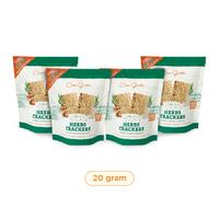 Casa Grata Crackers Mini Funtasty 4 A - 4 @ 20 g - Same Flavor - 4 Herbs
