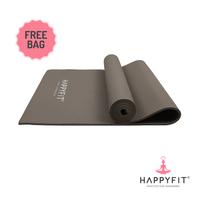 Happyfit Yogamat PVC Polos 8 mm Grey + Tas