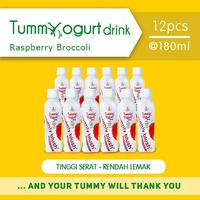 Heavenly Blush Tummy Yogurt Drink Raspberry Broccolli 180 ml (12 Pcs)