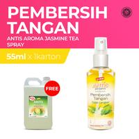 Buy 1 Carton Antis Spray Jasmine Tea 55 mL Free Antis Jeruk Nipis 5 L