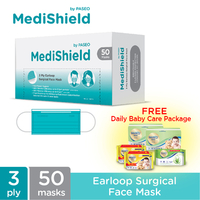 Medishield by Paseo Masker Surgical Earloop Free Daily Baby Care Package