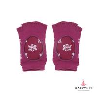 Happyfit Yoga Socks Open Finger With Flower - Purple