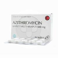 Azithromycin Novell Kaplet 500 mg (3 Strip @ 10 Kaplet)