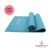 Happyfit Yogamat PVC Polos 6 mm Blue + Tas