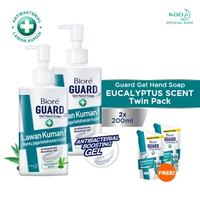 Biore Guard Gel Hand Soap Eucalyptus Scent Botol 200 ml - Twinpack FREE Gift