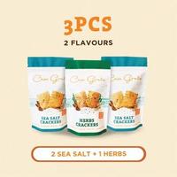 Casa Grata Crackers Set of 3 - 2 Sea Salt dan 1 Herbs