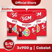 Paket 3 - SGM Eksplor 5 Plus Susu Pertumbuhan 5-12 Tahun Coklat 900 g