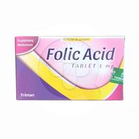 Folic Acid Tablet 1 mg (10 Strip @ 10 Tablet)