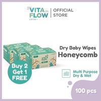 Vitaflow Multipurpose Dry Tissue Isi 100 Lembar - Buy 2 Get 1 Free