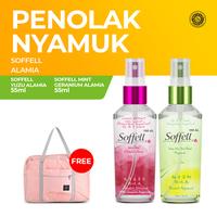 Soffell Alamia Anti Nyamuk Spray 55 mL - Free Travel Bag