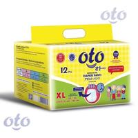 OTO Adult Diapers Pants / Popok Dewasa Model Celana - XL (1 Pack @ 12 Pcs)