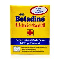 Betadine Plester Strip (1 Strip @ 10 Pcs)