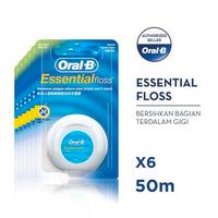Oral-B Benang Gigi Essential Floss 50 M - Paket isi 6