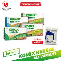 Komix Herbal Sachet Mix 4 Pack (24 Sachet) FREE Masker
