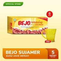 Bejo Susu Jahe Merah (SUJAMER) 8 Pack (40 Sachet) FREE Gelas