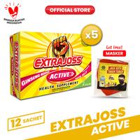 Extra Joss Active B7 5 Pack (60 Sachet) FREE Masker