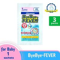 Bye Bye Fever Multipack - Plester Kompres Demam Bayi 3 Lembar