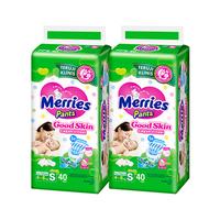 Merries Pants Good Skin S 40S Twinpack