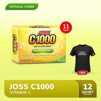 Joss C1000 Vitamin C 11 Pack FREE Kaos Gowes Hitam