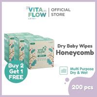 Vitaflow Multipurpose Dry Tissue Isi 200 Lembar - Buy 2 Get 1 Free