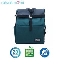 Natural Moms Thermal Bag/Cooler Bag - Backpack Flip Green