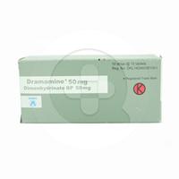 Dramamine Tablet 50 mg (10 Strip @ 10 Tablet)