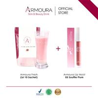 Armoura Ultra Cream (Pouch @10 Sachet) + 1 Armoura Matte Nude Lipmoist (05 Souffle Plum)