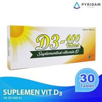 D3-400 Tablet (3 Strip @ 10 Tablet) - Vitamin D3