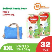 Huggies Gold Pants Popok Celana XXL 32 - 2 Pack Free Diaper Bag