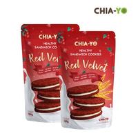 Chia-Yo Cookies Sandwich Red Velvet - 2 Pcs