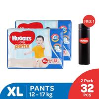 Huggies Dry Pants Popok Celana XL 32 - 2 Pack Free Tumbler