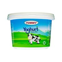Yummy Skim Yoghurt Natural Plain 2 x 500 g