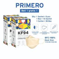 Primero Buy 1 Get 1 - Masker KF94 4Ply Beige (1 Box @ 50 Pcs)