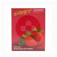 Simplex Kondom Strawberry Fragrance (3 Pcs)