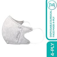 Maskit Masker Duckbill Earloop Dewasa 4Ply - Dark Series - Abu (10 Pcs)