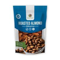 Francis Organic Kacang Almond Panggang Kupas/Roasted Almond 1 Kg - Tawar