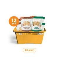 Casa Grata - Small Set of 12 Crackers B - 2 Flavours @ 20 g - 6 H + 6 SC