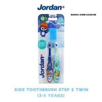Jordan Toothbrush Step 2 Twin (3-5 Years) Soft (1 Pack @ 2 Pcs)