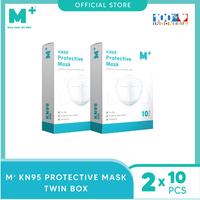 M+ Masker KN95 5 Ply Earloop (10 Pcs) - Paket 2 Box