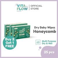 Vitaflow Multipurpose Dry Tissue Isi 25 Lembar - Buy 2 Get 1 Free