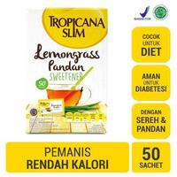 Tropicana Slim Sweetener Lemongrass Pandan (1 Box @ 50 Sachet)